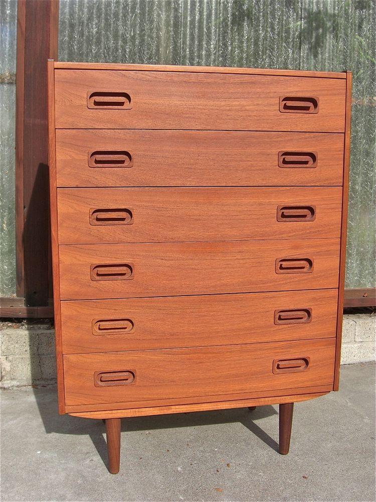 Best Danish Modern Teak Highboy Dresser 6 Drawer Dyrlund Mid 400 x 300