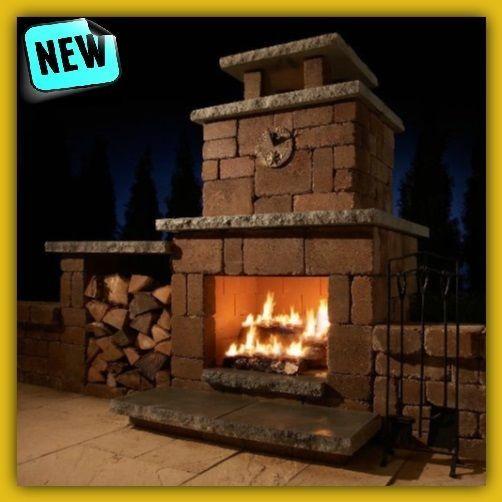 Outdoor Fireplace Kits Build Chiminea Stone Brick Wood Burning Heat Patio Decor Necessories Fireplace Kits Diy Outdoor Fireplace Outdoor Fireplace Designs