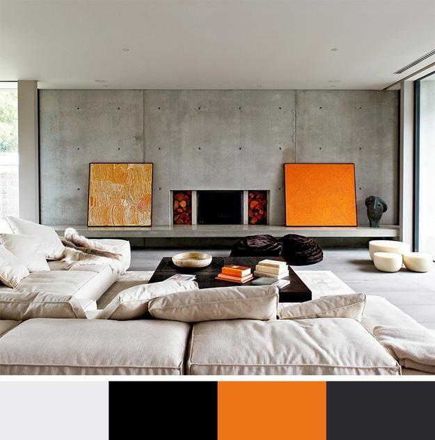 12 Modern Interior Colors, Decorating Color Trends | Orange color ...