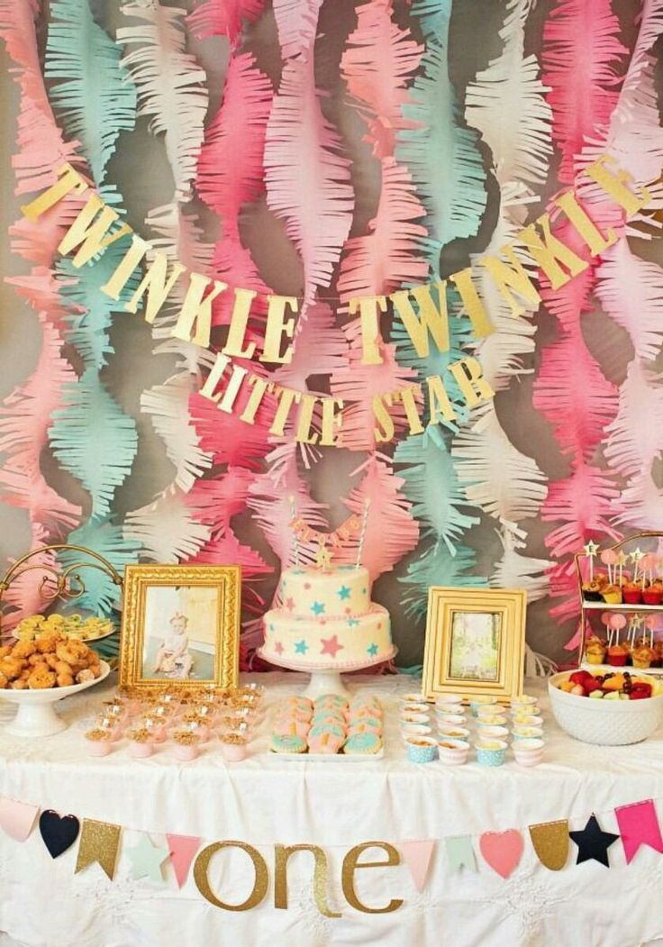 First Year Birthday 1 Party Ideas Baby Girl