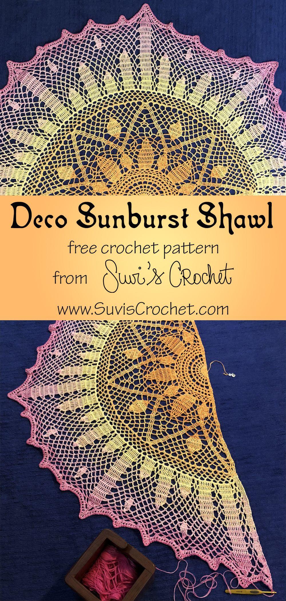 Deco Sunburst Shawl