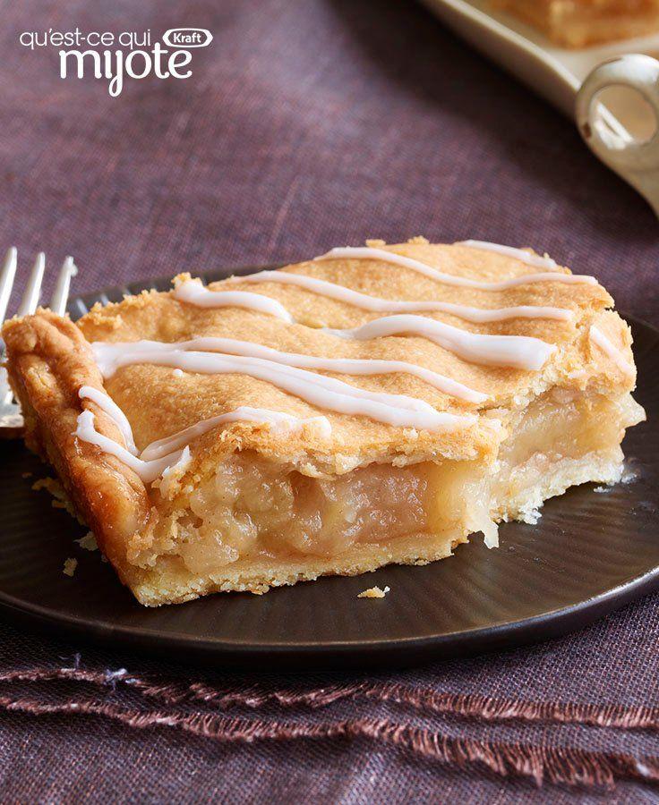 Recettes Tarte Aux Pommes: Barres Tarte Aux Pommes #recette