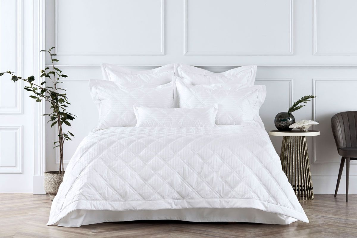Sheridan 1200Tc Millennia Bed Cover White Bed linens