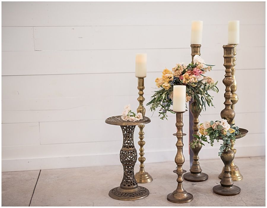 Simple Wedding Ceremony Idea Using Floor Height Br Candlesticks Dixie Does Vintage Als In Dallas