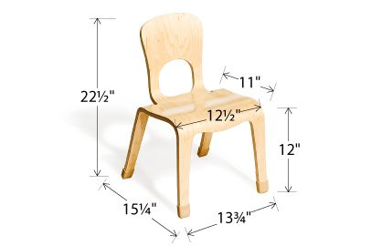 2 Yr Olds Seat Width: Seat Height: Seat Depth: All Edges And Corners Are  Rounded For Safety. Durable Chair Tips Reduce Noise And Won´t Mark The  Floor.