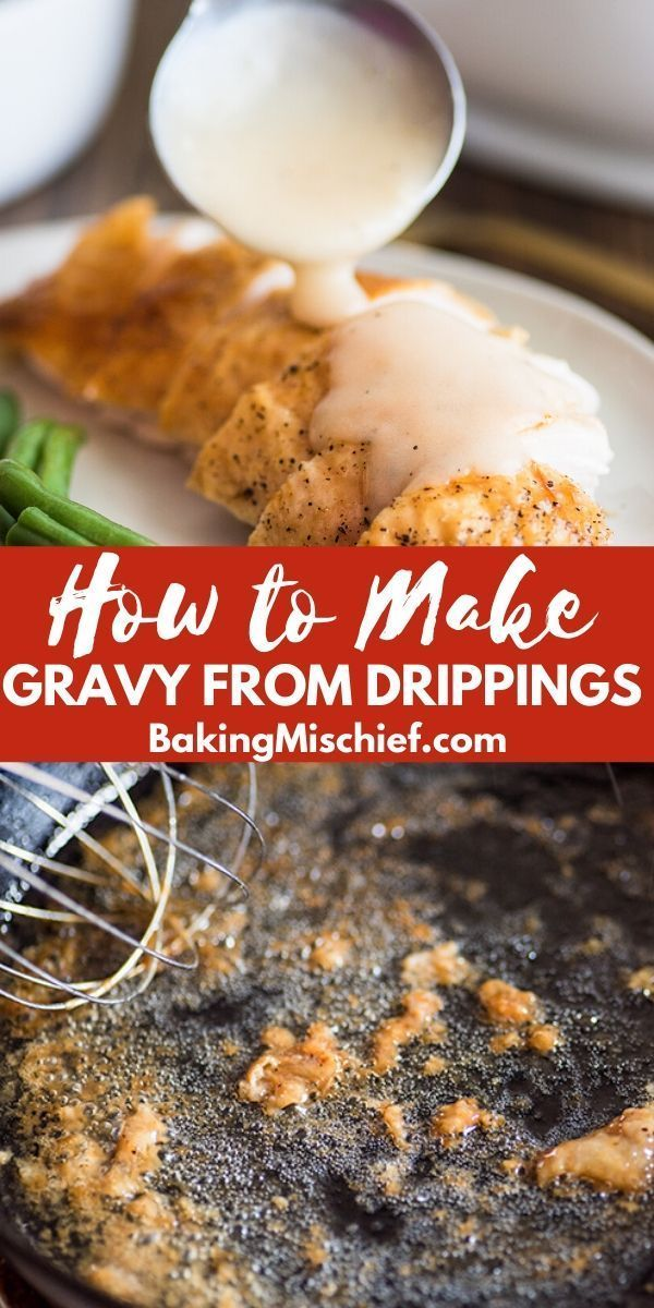 Gravy #turkeygravyfromdrippingseasy How to Make Gravy From Drippings: your guide to making the best, easy homemade gravy from pan drippings. #gravy #turkeygravyfromdrippingseasy