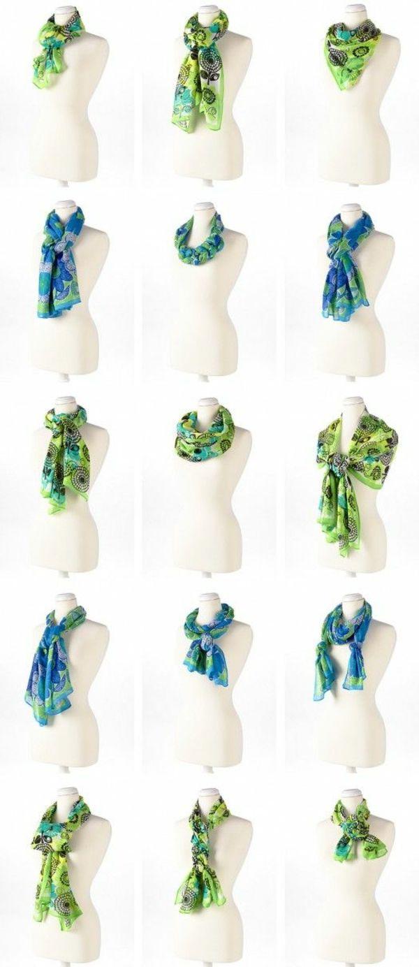 Schal binden leicht gemacht - einfache Schalbindetechniken #howtowear