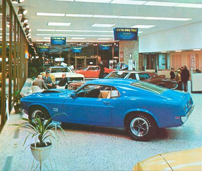 1969 Ford Showroom With A New Boss 429 Photos Mustang Picture Oldtimer