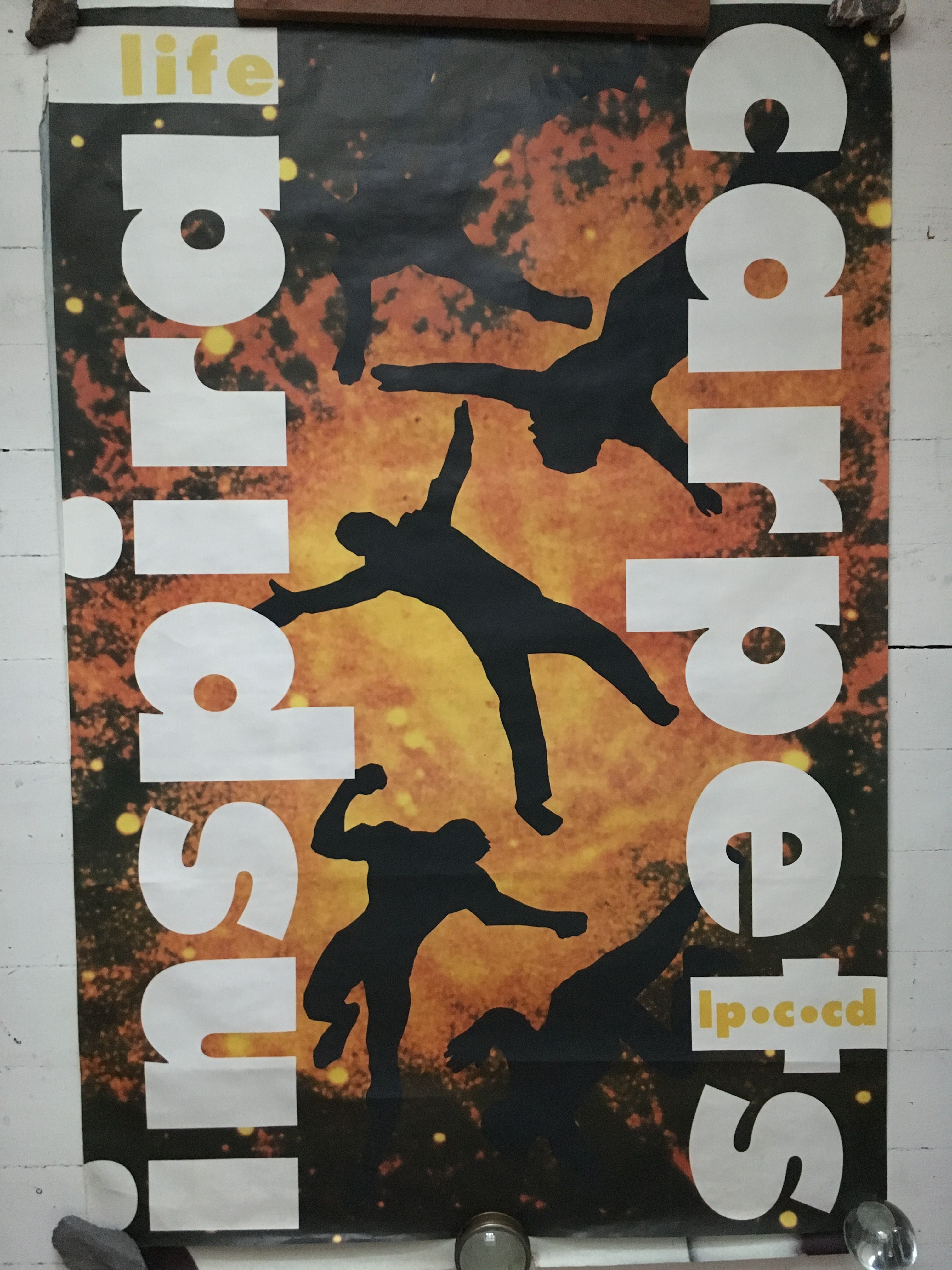 Inspiral Carpets, Life LP and CD promo poster from 1990. For sale on Posterogs
