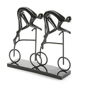 Figura Two Cyclist Negra