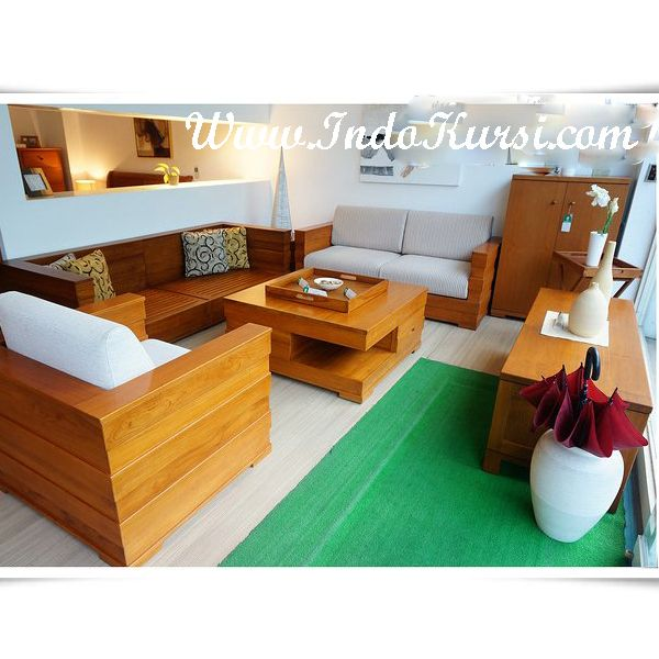 furniture set ruang tamu kursi minimalis kayu ik 012 merupakan produk indo mebel