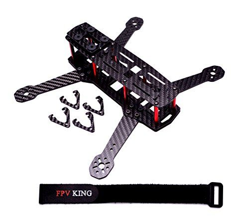 FPVKing 250mm FPV Racing Drone Frame 3K Carbon Fiber Quadcopter Best ...