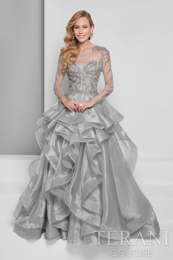 2d1b9908d3 Terani Couture 1711E3213 - Shop more designer prom and evening dresses at  MERANSKI.COM Worldwide Shipping and local boutique in South Florida!
