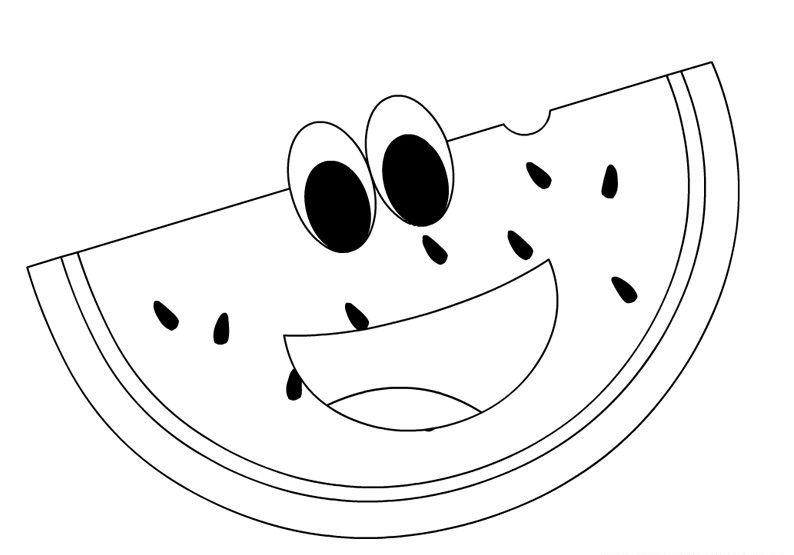 Anasınıfı Karpuz Boyama Sayfası 2 Meyve Sebze Boyama Pinterest
