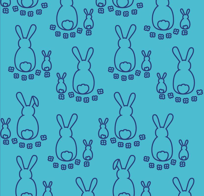 Kaniner Ljusturkos-Kobolt Ekologisk Jersey