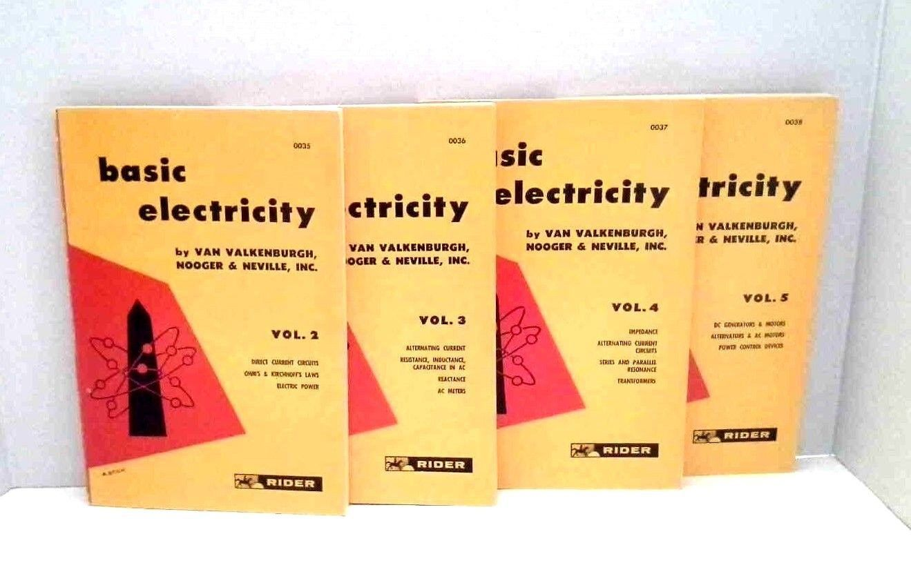 Day Dawn Discoveries Shops Welcomes And Thanks You Etires Etsy Basicelectricity Vintage Books Basic Electricity First Editions By Van Valkenburgh Volumes 2 5 Rider Science
