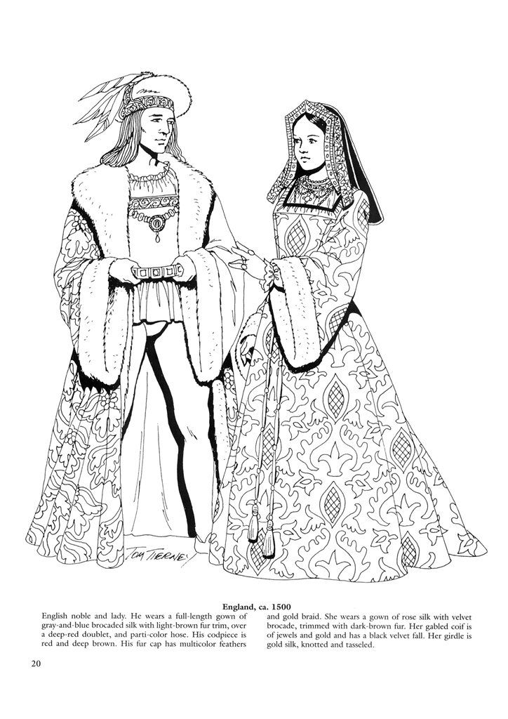historical medieval coloring pages - photo#6