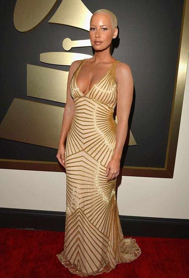 Amber Rose Tattoos Grammys Red Carpet Look Amber Rose Style
