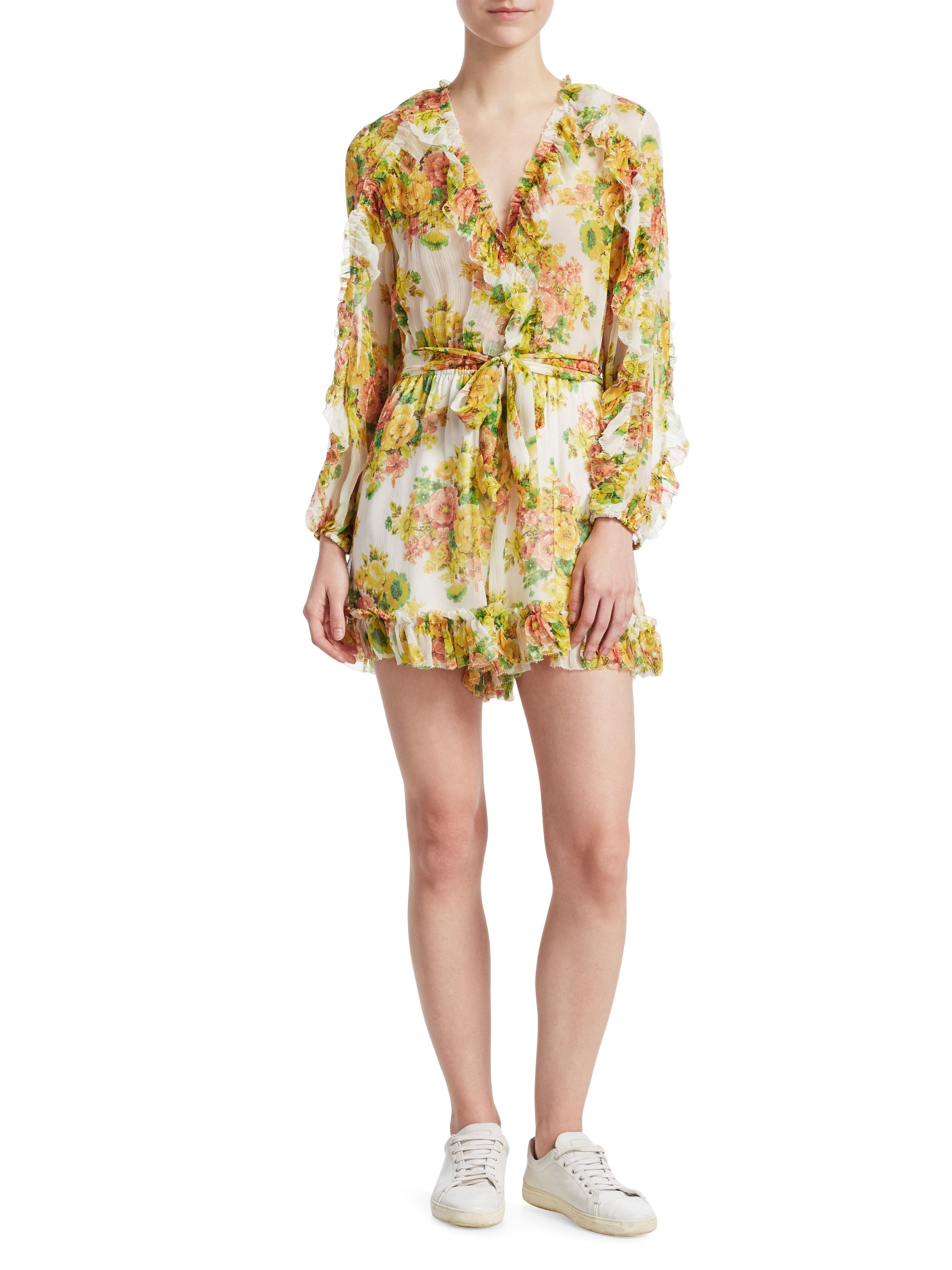 d5ef3f1b65bd Zimmermann Golden Ruffle Playsuit - Citrus Stamp Floral 3 (8-10)
