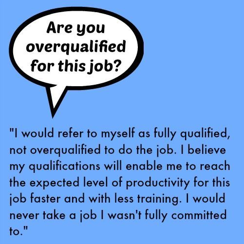 Are you overqualified for this job? #Finance101 work Pinterest - overqualified for the job