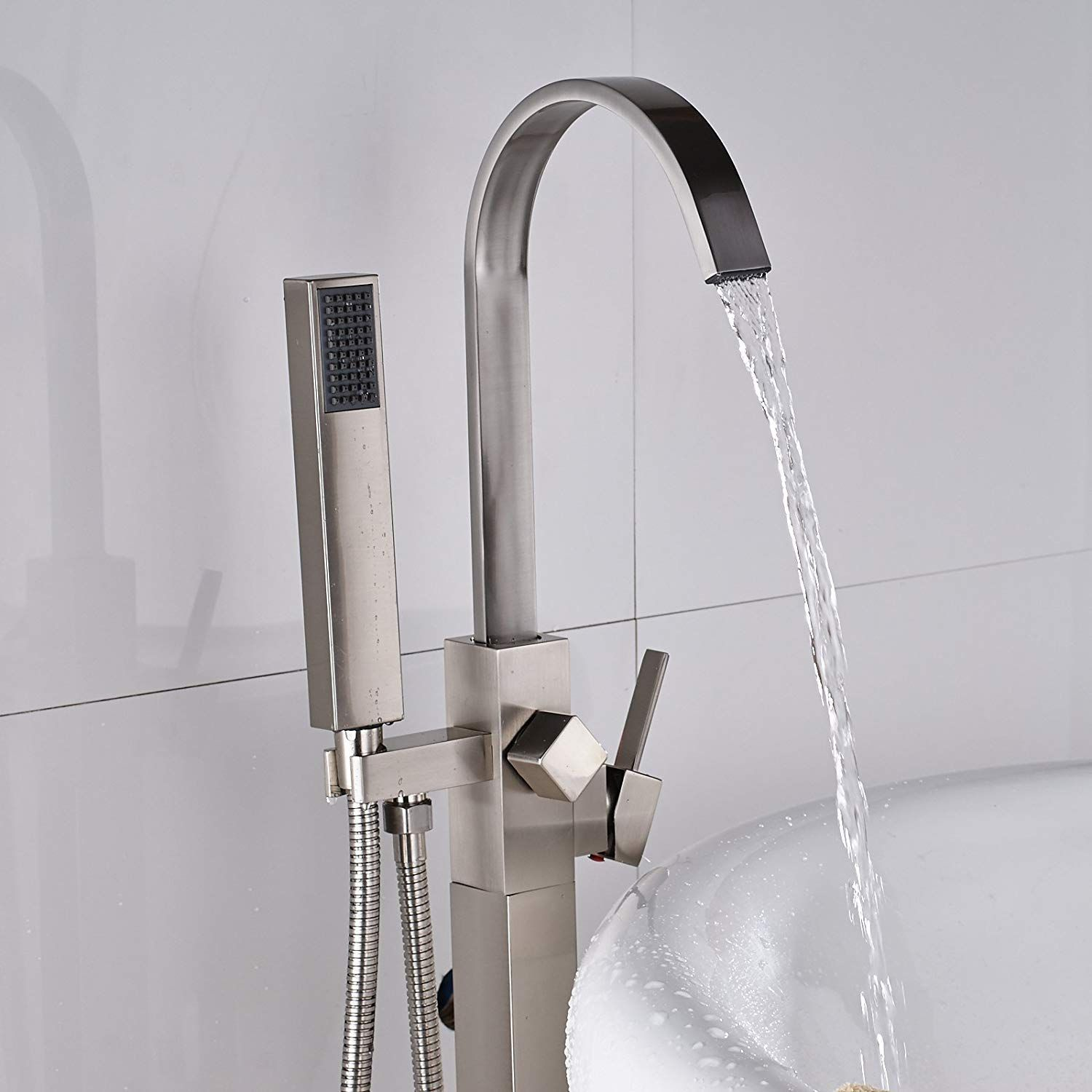 There Are Two Hoses In This Tub Faucet One Is For Hot Water And