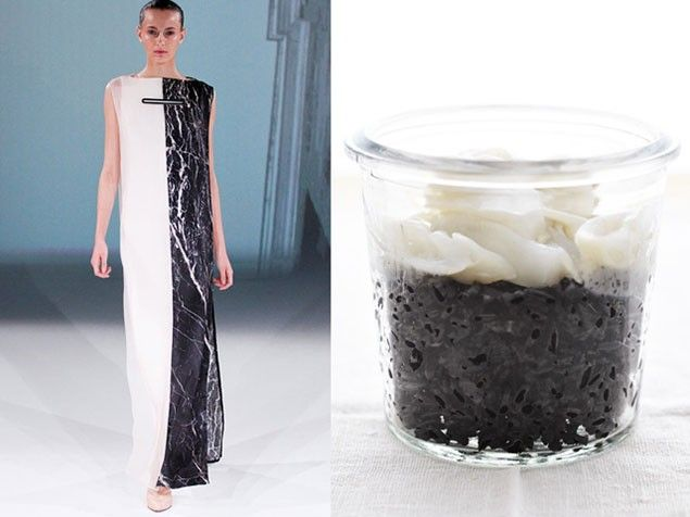 Fashion and Food - black and white