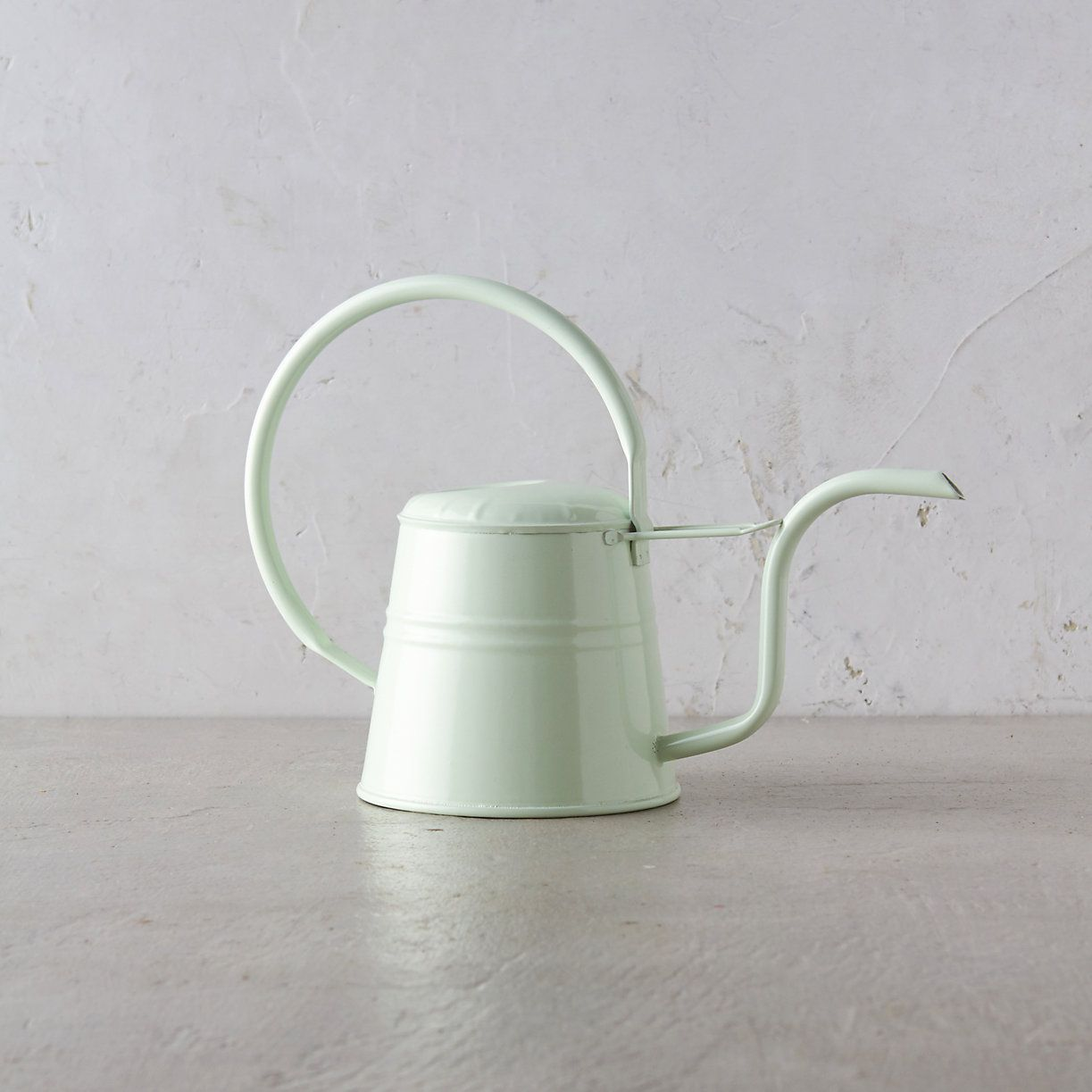 Metal Indoor Watering Can A Durable Coat Of Powder Coated Paint Tops This Petite