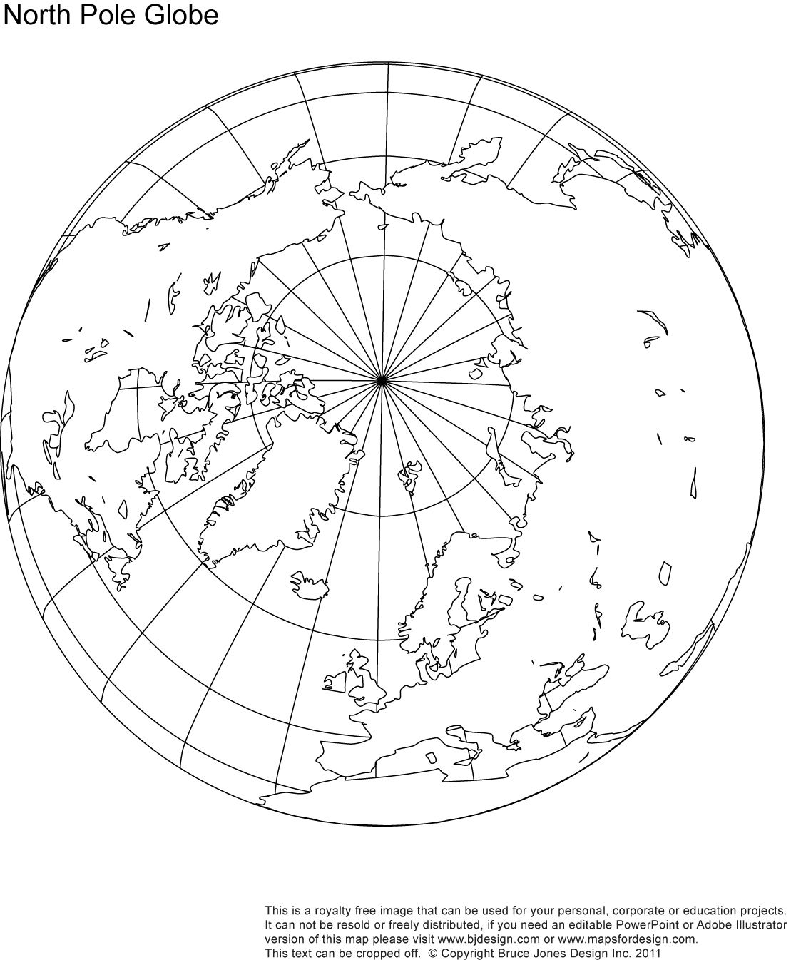 North Pole Globe Map Royalty Free When Mapping The Route