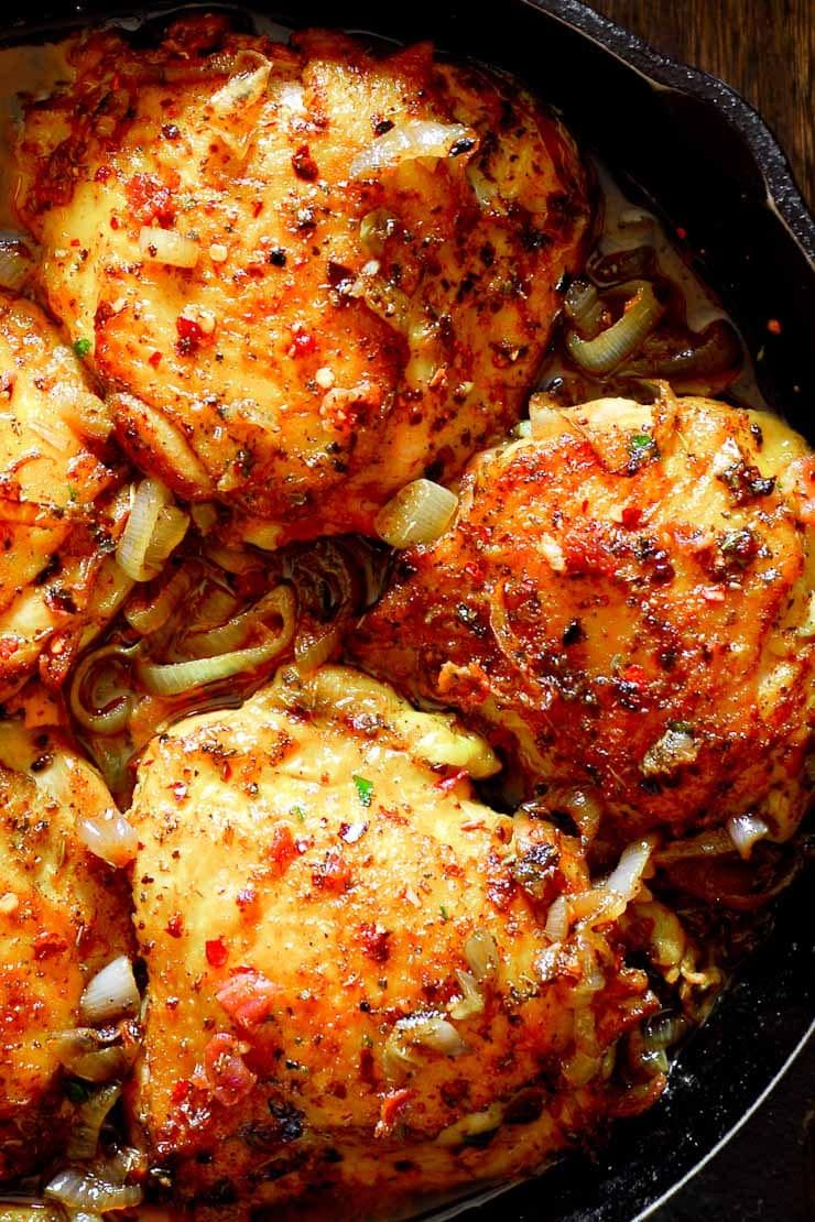 Chicken Thighs In 2020 Roast Chicken With Bacon Oven Roasted Chicken Thighs Oven Roasted Chicken