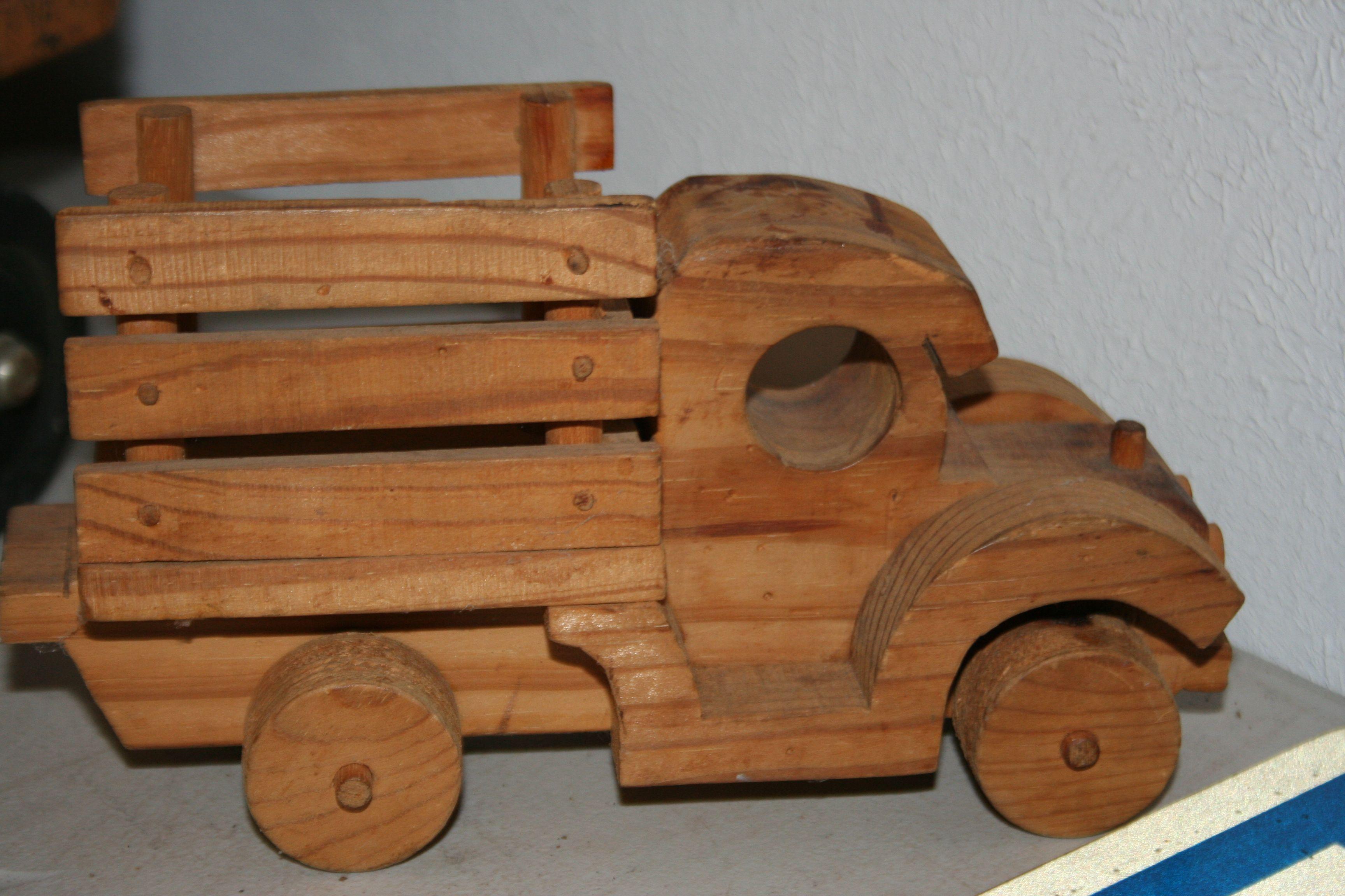 classic #vintage wooden toy truck. castle hill estate sale