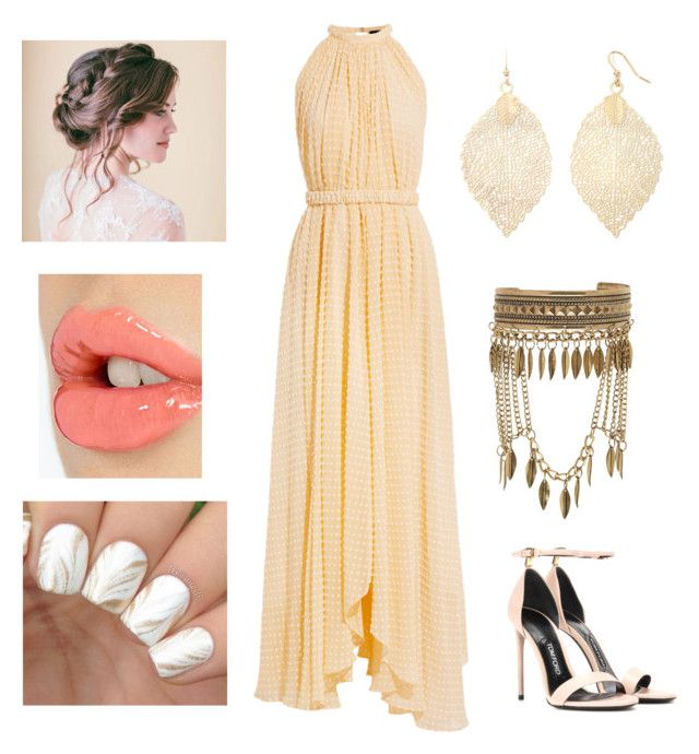 """""""Golden Opportunity"""" by monica-baugh on Polyvore featuring Saloni, Tom Ford, Boutique+, New Look and Charlotte Tilbury"""