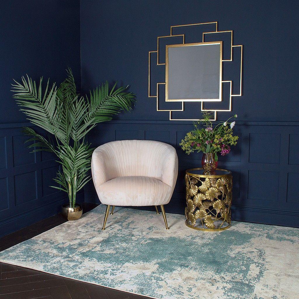 Gold Ginkgo Leaf Side Table | Audenza