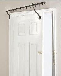 Exceptionnel Over The Door Hinged Curtain Rod