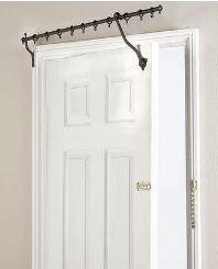 over the door hinged curtain rod door