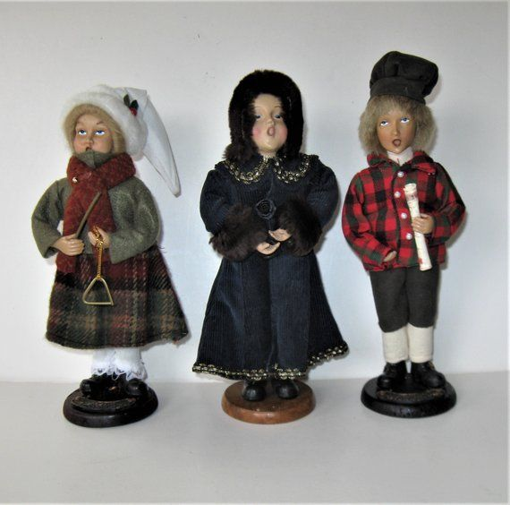 Items Similar To Vintage Santa S Workbench Dickens Choir: Set Of 3 Victorian Old World Christmas Carolers, 9 1/2