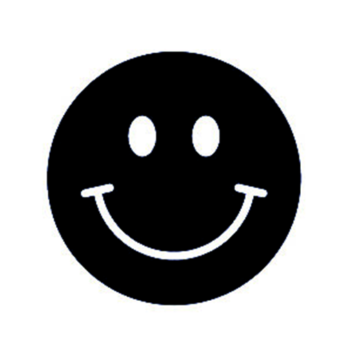 Evil Smiley Happy Face Sticker Smile Cup Laptop Car Vehicle Window Bumper Decal