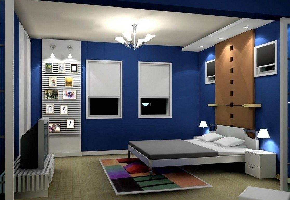 Bedroom designs for couples in blue - Bedroom Interior Design 2014 With Blue Color Bedroom Interior