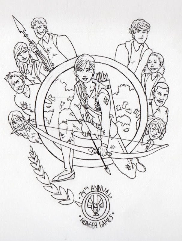 Pin By Reilly On Hunger Games Coloring Pages