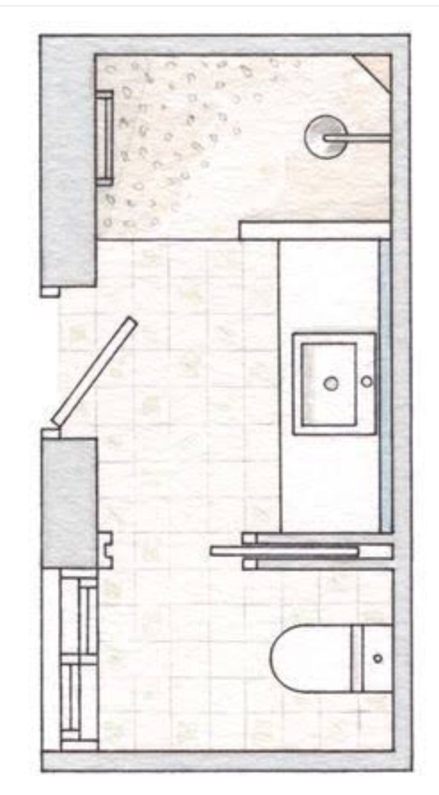 25 Minimalist Small Bathroom Ideas Feel The Big Space With Images Bathroom Layout Plans Bathroom Floor Plans