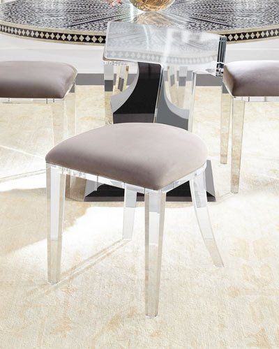 acrylic dining room chairs. Shop Vivian Inlay Dining Table \u0026 Nessy Acrylic Chair From Bernhardt At Horchow, Where You\u0027ll Find New Lower Shipping On Hundreds Of Home Furnishings Room Chairs