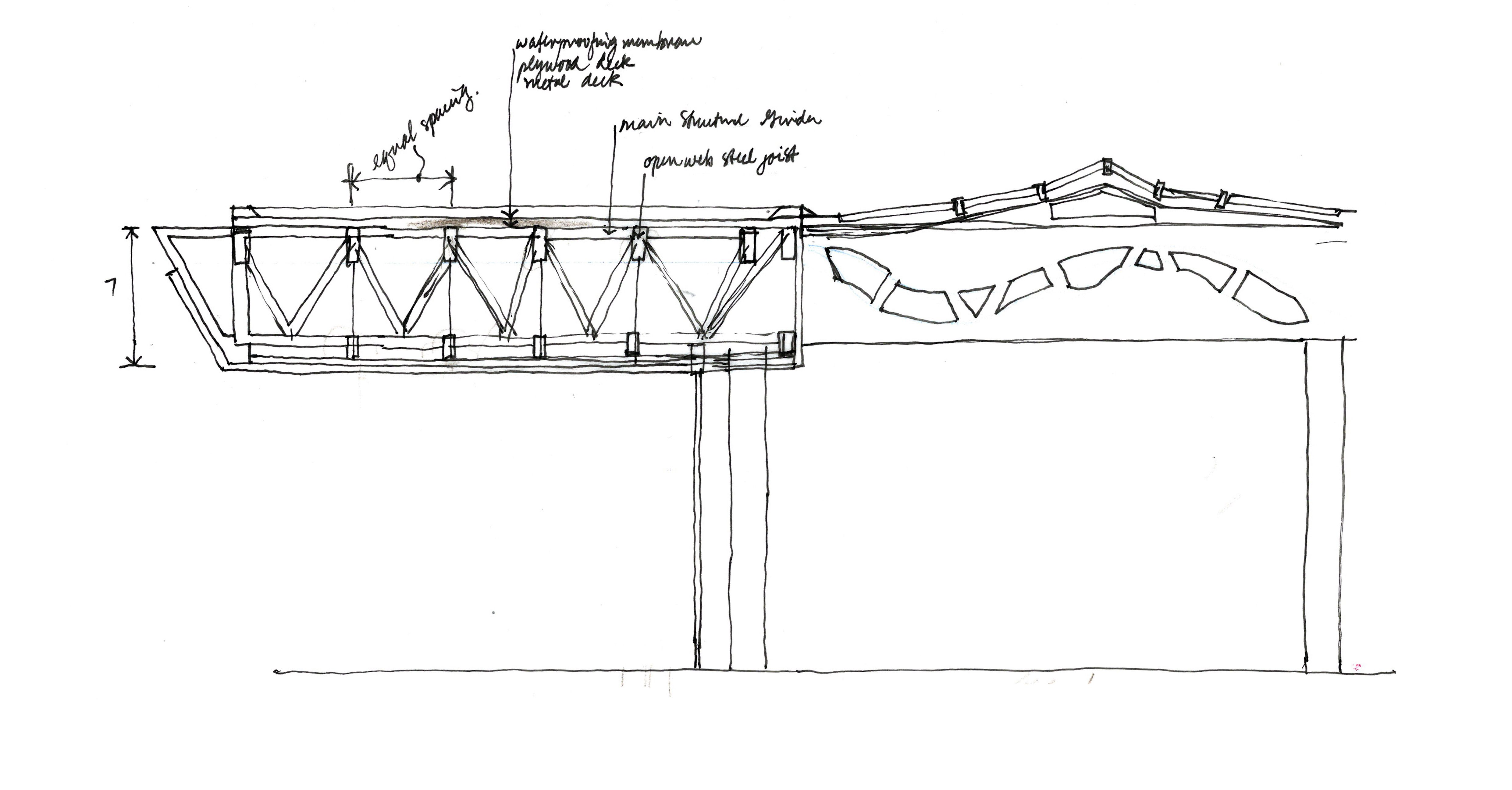 23b492433eaa8c247700f5f9c3160002 a sketch space frame cantilever spaces places pinterest