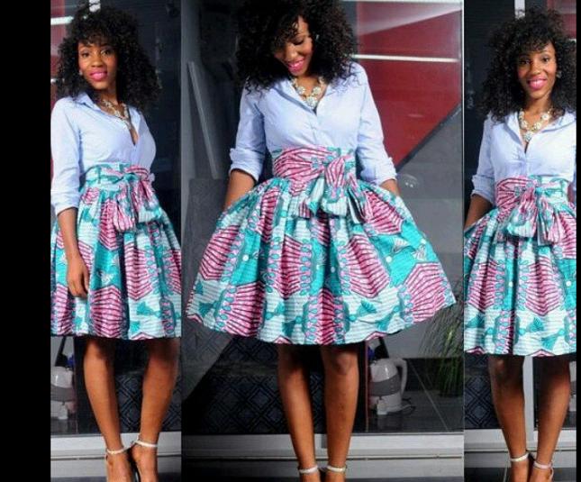 7791d4bb5eca3 Top Ten Trendy Ankara High Waist Skirt Paired with a Nice Top Dabonke