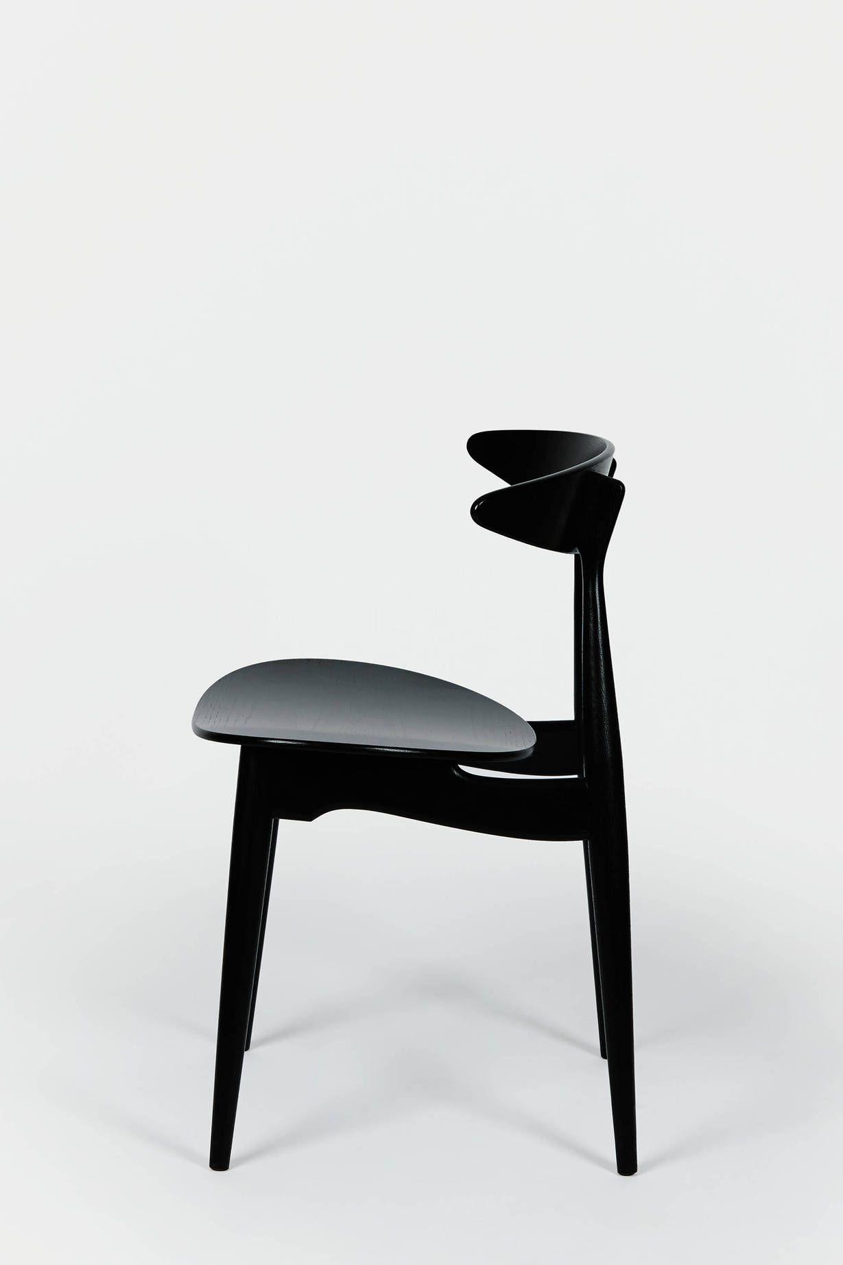 Hans wegner ch33 dining chair black oak hans wegner for Wegner dining chair