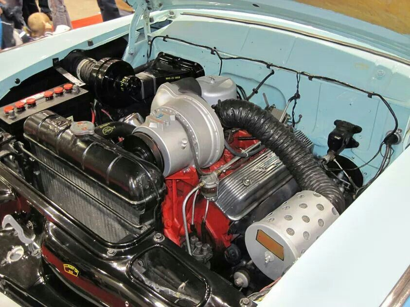 56 Supercharged Y Block Ford Racing Race Engines Ford Motor