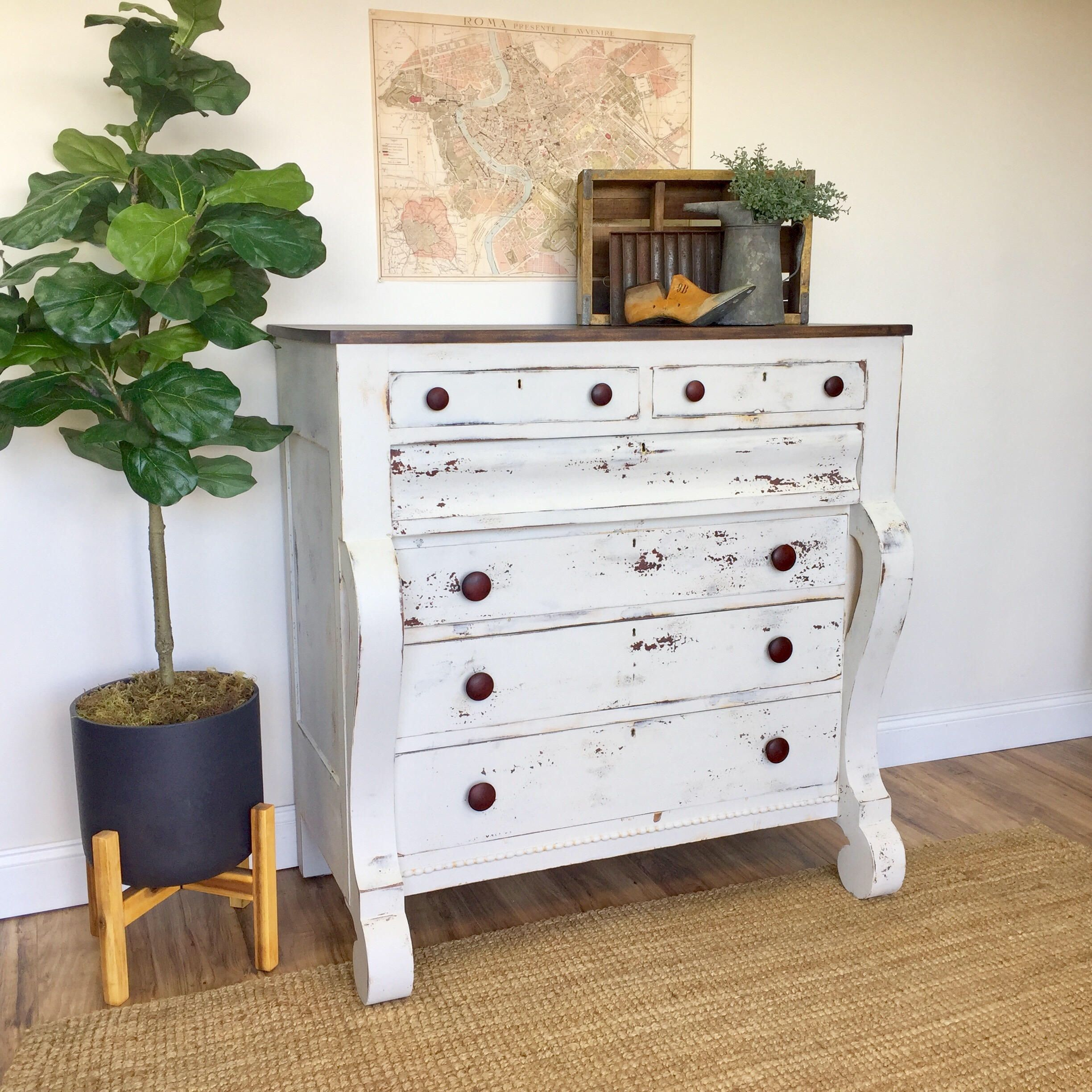 farmhouse dresser  antique chest of drawers american