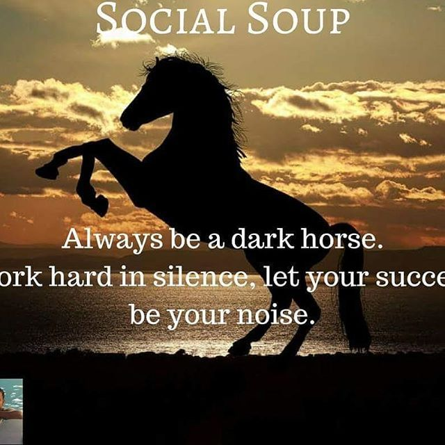 Always Be A Dark Horse Work Hard In Silence Let Your Success Be