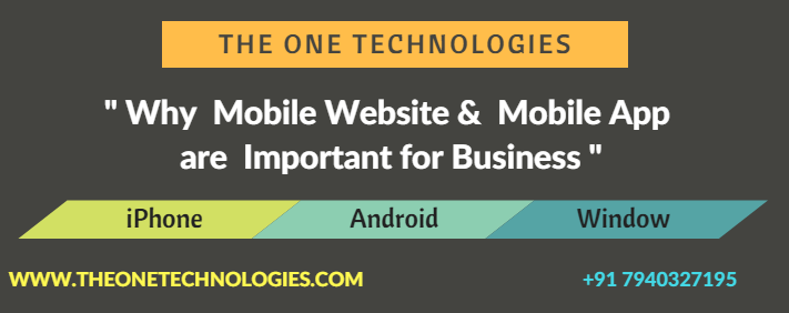 Why Mobile Website and Mobile App are Important for Business