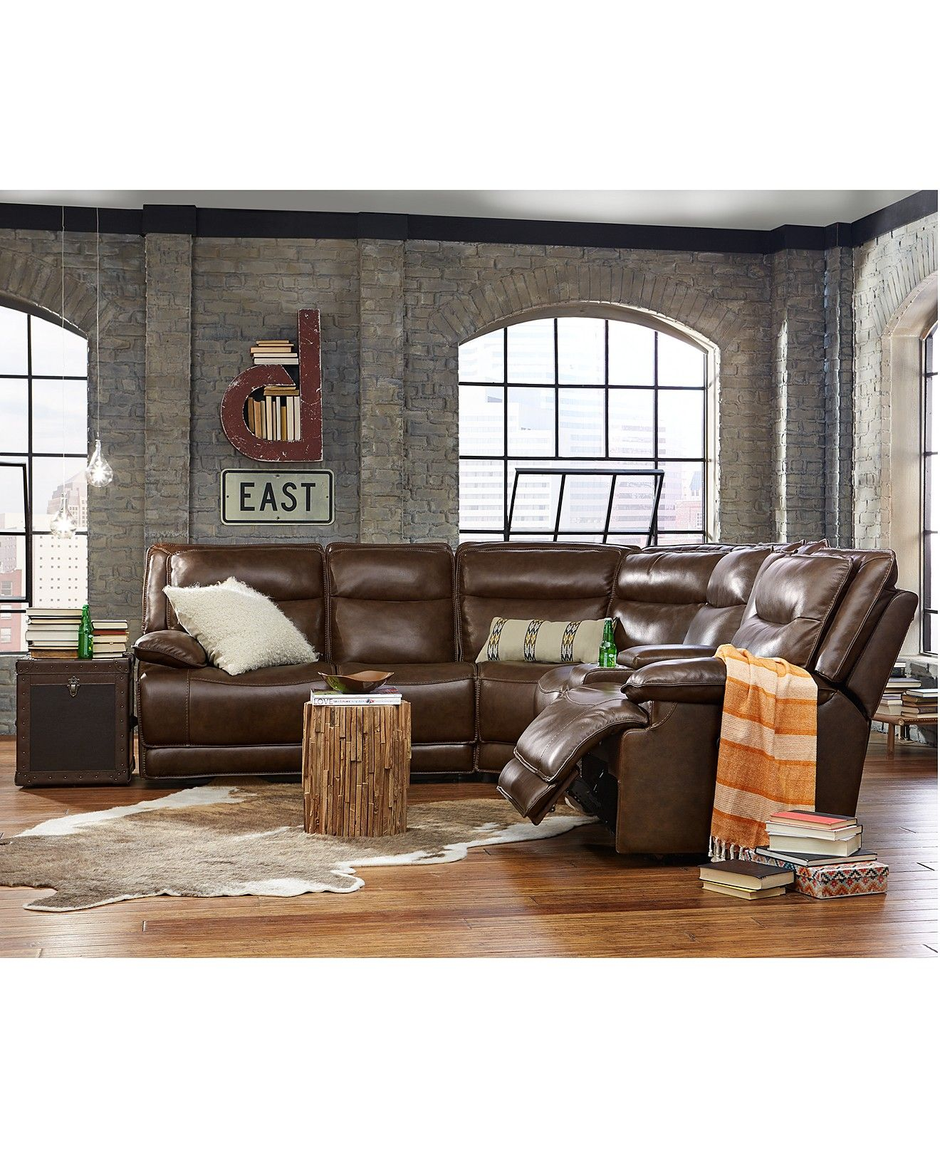 Joffrey Leather Power Motion Sectional Collection Furniture