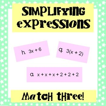Simplifying Expressions: Match Three