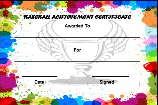 baseball award certificate template free Baseball certificate - printable achievement certificates